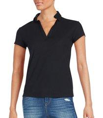 james perse women's polo shirt - black - size 0 (xs)