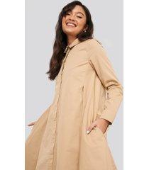 na-kd asymmetrical shirt dress - beige