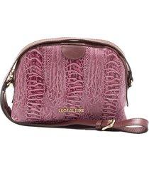 bolsa tiracolo em couro leopoldine pink leyla