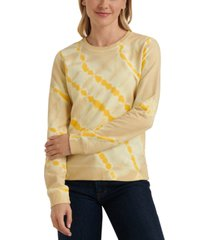 lucky brand cotton tie-dyed sweatshirt