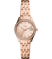 women's fossil scarlette bracelet watch, 28mm