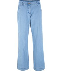 pantaloni in cotone effetto jeans con cinta comoda  loose fit (blu) - bpc bonprix collection