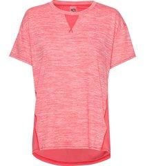 kine tee t-shirts & tops short-sleeved rosa kari traa