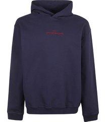 maison margiela chest logo hooded sweatshirt