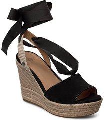 w.shiloh sandalette med klack espadrilles svart ugg