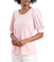 chaus puff sleeve knit top, size x-large in ivory at nordstrom