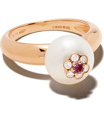 david morris 18kt red gold diamond berry ring - rose gold