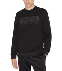 ax armani exchange men's beaded logo sweatshirt