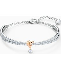 bracciale rigido lifelong heart, bianco, mix di placcature