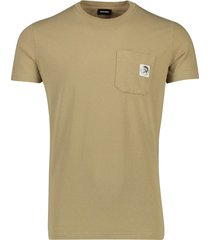 diesel t-shirt met borstzak khaki