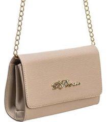 bolsa carteira d'flora alça fixa feminina mão ombro dia dia - feminino