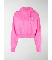 rotate logo print drawstring hoodie