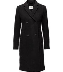 odelia coat wollen jas lange jas zwart modström