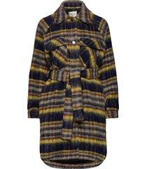 evora jacket wollen jas lange jas multi/patroon second female