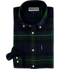 barbour overhemd geruit groen tailored fit