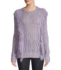 carla fringe sweater
