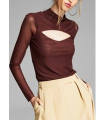 and now this cutout mesh top