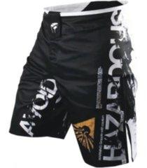 pantaloneta hombre suoft velcro deportiva muay thai boxeo 12034 negro