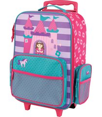 stephen joseph 18-inch rolling suitcase - pink