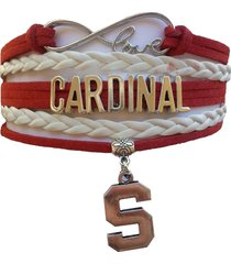 stanford university cardinal fan shop infinity bracelet jewelry