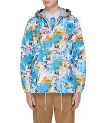 x futura printed fleece lined hooded jacket