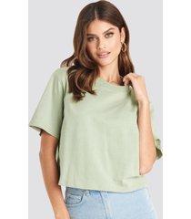 na-kd basic oversize t-shirt - green