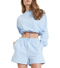 bardot the drawstring sweater, size large in cornflower at nordstrom