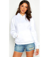 tall oversized effen hoodie, wit