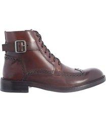 botas estilo oxford de cuero para hombre 04488