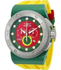 reloj invicta 12323_out rojo, amarillo, verde silicona