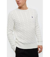 polo ralph lauren cotton cable sweater tröjor white