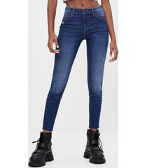 push-up jeans met middelhoge taille