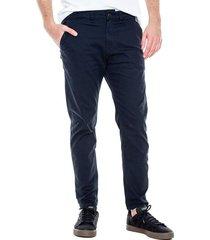 pantalón chino slim fit color blue