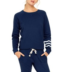 women's sol angeles essential pullover, size small - blue