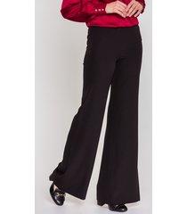 czarne spodnie dzwony - potis & verso