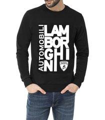 automobili lamborghini destructured logo sweatshirt