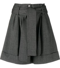 p.a.r.o.s.h. tailored fitted shorts - grey
