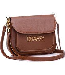 bolsa dhaffy bolsas com bolso na frente caramelo