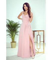 299-2 chiara elegancka maxi suknia na ramiączkach