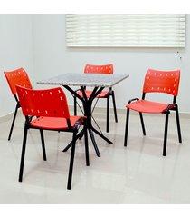 conjunto cozinha sevilha 0,75 com granito c/4 cadeiras isomix