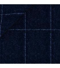 pantaloni da uomo su misura, vitale barberis canonico, flanella blu finestrato bouclé, autunno inverno | lanieri