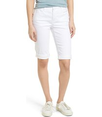 women's wit & wisdom ab-solution white bermuda shorts, size 16 - white (nordstrom exclusive)