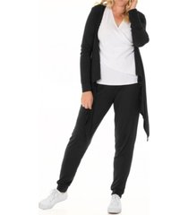 blooming women maternity cardigan nursing top & pant 3pc set, online only
