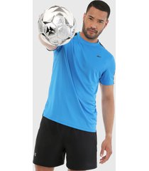 camiseta azul-negro reebok workout ready tech