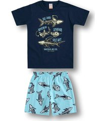 pijama marisol - 10316387i azul - azul - menino - dafiti