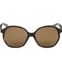 balenciaga women's 58mm core geometric sunglasses - brown havana