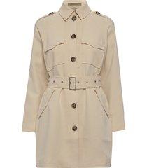 slftilly ls jacket b trenchcoat lange jas beige selected femme