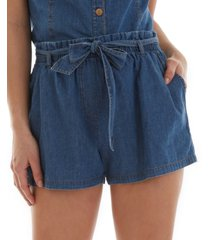 bcx juniors' cotton belted paperbag-waist shorts