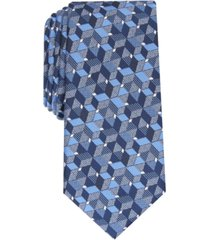 alfani men's slim geo tie, created for macy's