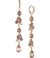 givenchy crystal cluster linear earrings